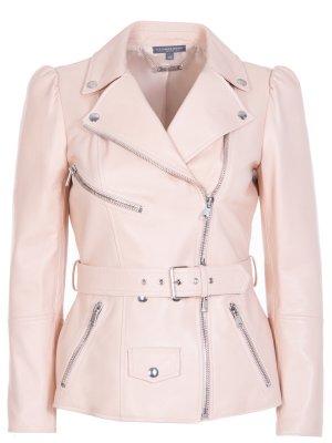 Куртка-косуха кожаная Alexander McQueen. Цвет: розовый