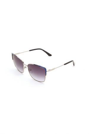 Очки солнцезащитные Guy Laroche. Цвет: 102 серебристый, синий