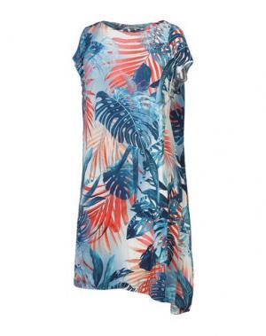 Короткое платье FUZZI. Цвет: синий