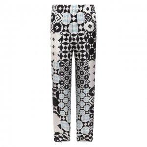Шелковые брюки Giorgio Armani. Цвет: разноцветный