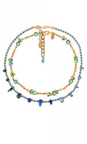 Набор ожерелий alica & vanessa Elizabeth Cole. Цвет: металлический золотой