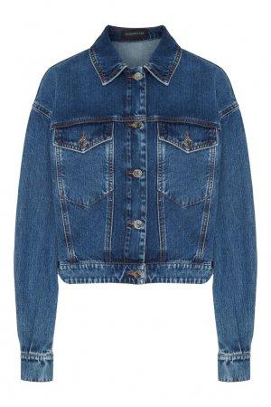 Синяя джинсовая куртка Max Mara. Цвет: синий