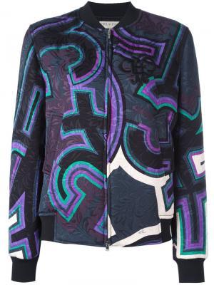 Куртка бомбер с принтом Emilio Pucci. Цвет: многоцветный