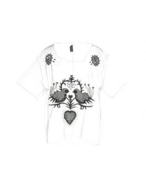 Блузка JULIAN KEEN. Цвет: белый