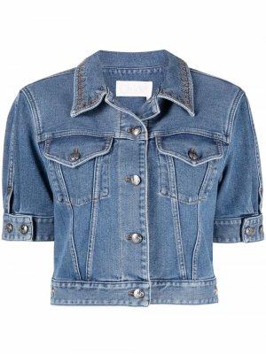Укороченная джинсовая куртка Chloé. Цвет: синий