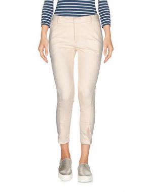 Джинсовые брюки-капри L' AUTRE CHOSE. Цвет: слоновая кость