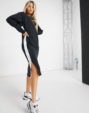Черное платье с длинными рукавами Classics-Черный Puma