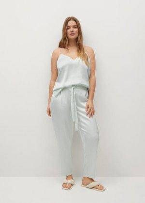 Пижамные брюки в полоску - Gala-i Mango. Цвет: морская волна
