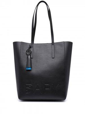 Сумка-тоут с тисненым логотипом BAPY BY *A BATHING APE®. Цвет: черный
