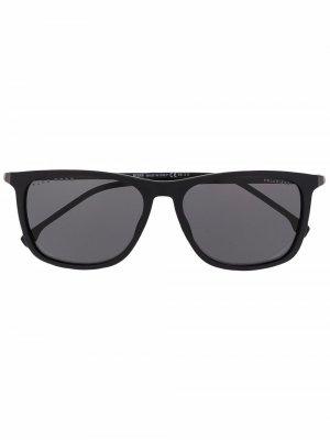 Солнцезащитные очки в прямоугольной оправе BOSS. Цвет: черный