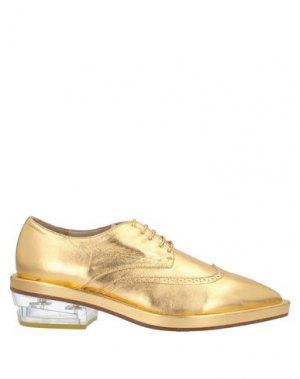 Обувь на шнурках SIMONE ROCHA. Цвет: золотистый
