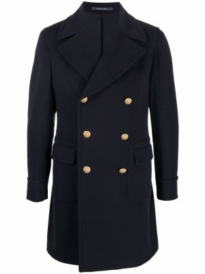 Double-breasted wool coat Tagliatore. Цвет: синий