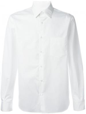 Рубашка с нагрудным карманом Aspesi. Цвет: белый