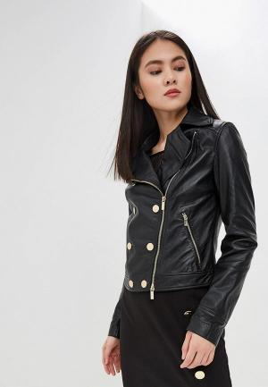 Куртка кожаная Marciano Los Angeles. Цвет: черный