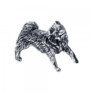 Сувенир из чернёного серебра с гравировкой SOKOLOV