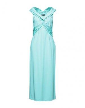 Длинное платье COMPAGNIA ITALIANA. Цвет: бирюзовый