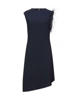 Платье до колена BLACK LABEL. Цвет: темно-синий