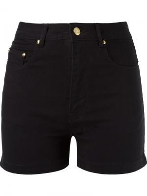 Джинсовые шорты с завышенной талией Amapô. Цвет: черный