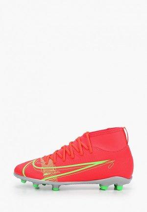 Бутсы Nike JR SUPERFLY 8 CLUB FG/MG. Цвет: красный