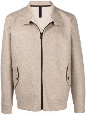 Куртка на молнии Harris Wharf London. Цвет: нейтральные цвета
