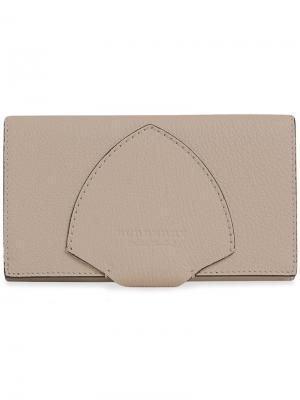 Континентальный кошелек с заплаткой-гербом Burberry. Цвет: нейтральные цвета
