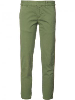 Укороченные брюки чинос Nili Lotan. Цвет: зеленый