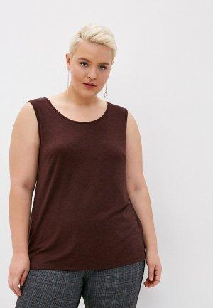 Топ Lik Fashion. Цвет: коричневый