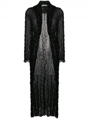 Длинная прозрачная накидка 1990-х годов Romeo Gigli Pre-Owned. Цвет: черный