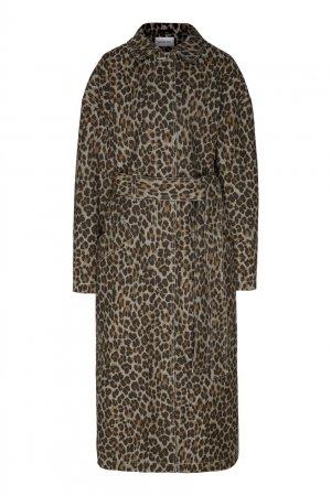 Пальто с леопардовым принтом Alexandr Rogov. Цвет: коричневый