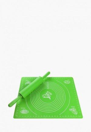 Набор кухонных инструментов Elan Gallery. Цвет: зеленый