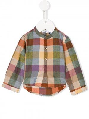 Рубашка в клетку Knot. Цвет: разноцветный