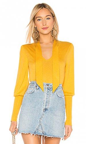 Пуловер BCBGMAXAZRIA. Цвет: желтый