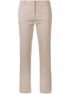 Укороченные брюки чинос кроя слим Aspesi. Цвет: нейтральные цвета