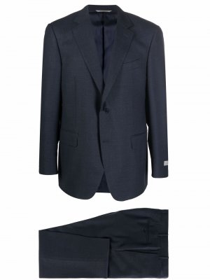 Fitted single-breasted suit Canali. Цвет: синий