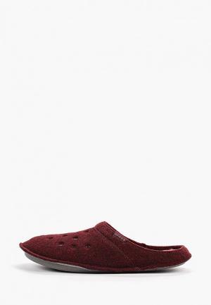 Тапочки Crocs. Цвет: бордовый
