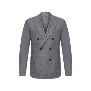 Шерстяной пиджак Eleventy. Цвет: серый