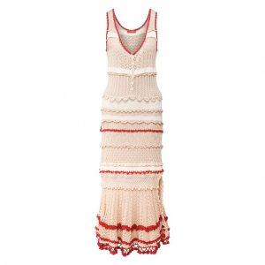 Хлопковое платье Altuzarra. Цвет: бежевый