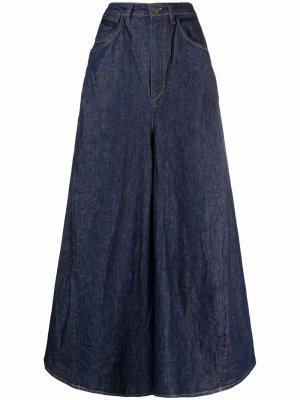 Расклешенная джинсовая юбка макси Diesel. Цвет: синий