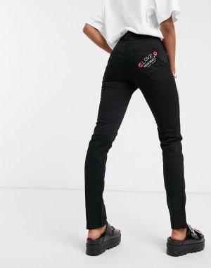 Черные джинсы скинни с эффектом пуш-ап -Черный Love Moschino