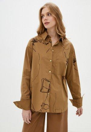 Рубашка Katya Erokhina. Цвет: коричневый