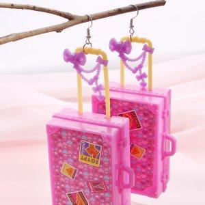 Серьги-подвески в форме чемодана SHEIN. Цвет: многоцветный