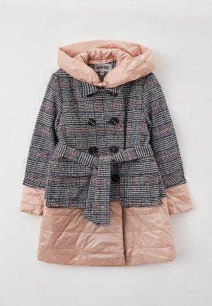 Пальто RionaKids Betti. Цвет: серый