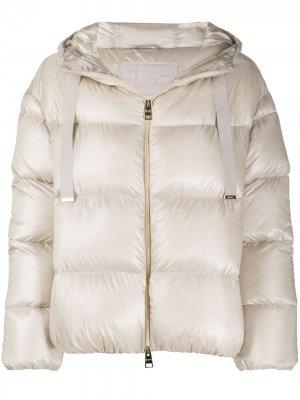 Quilted hooded puffer jacket Herno. Цвет: нейтральные цвета