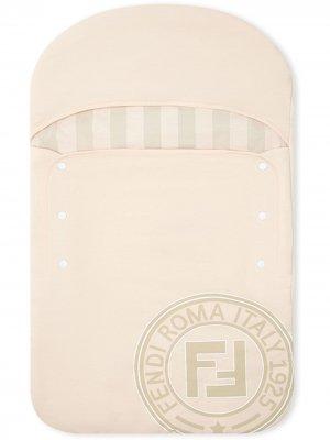 Спальный мешок с логотипом Fendi Kids. Цвет: розовый