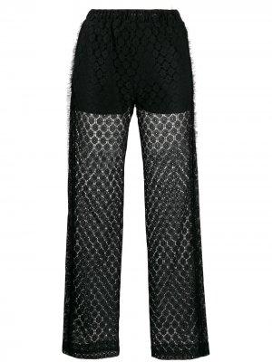 Кружевные брюки Viktor & Rolf. Цвет: черный