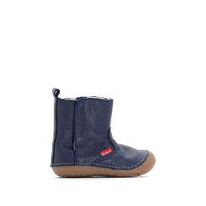 Ботинки кожаные Socool KICKERS. Цвет: темно-синий