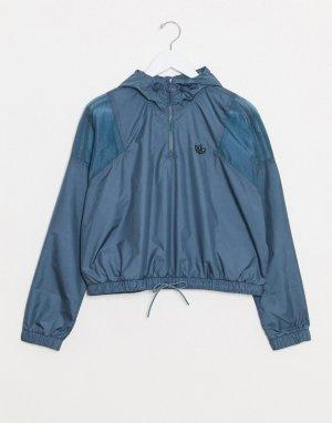 Сине-зеленая короткая ветровка Bellista-Голубой adidas Originals
