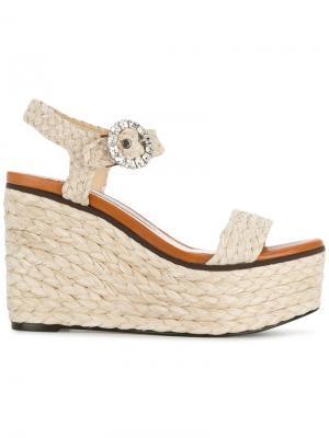 Nylah 100 sandals Jimmy Choo. Цвет: коричневый