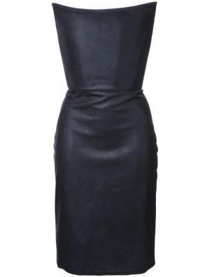 Платье-корсет без бретелек Gareth Pugh. Цвет: черный