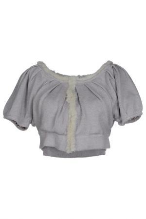 Блуза DIVINA. Цвет: серый